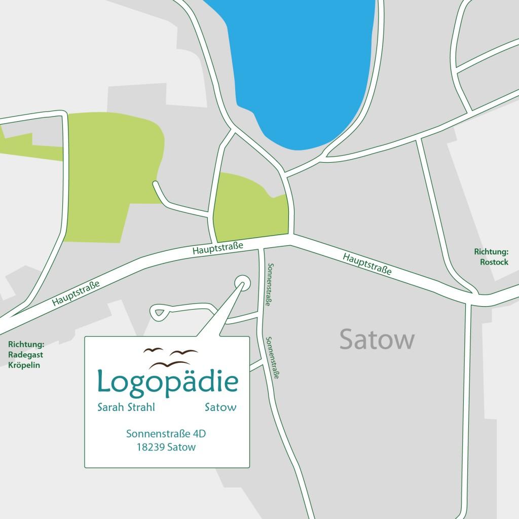 Anfahrt zur Logopädie Satow
