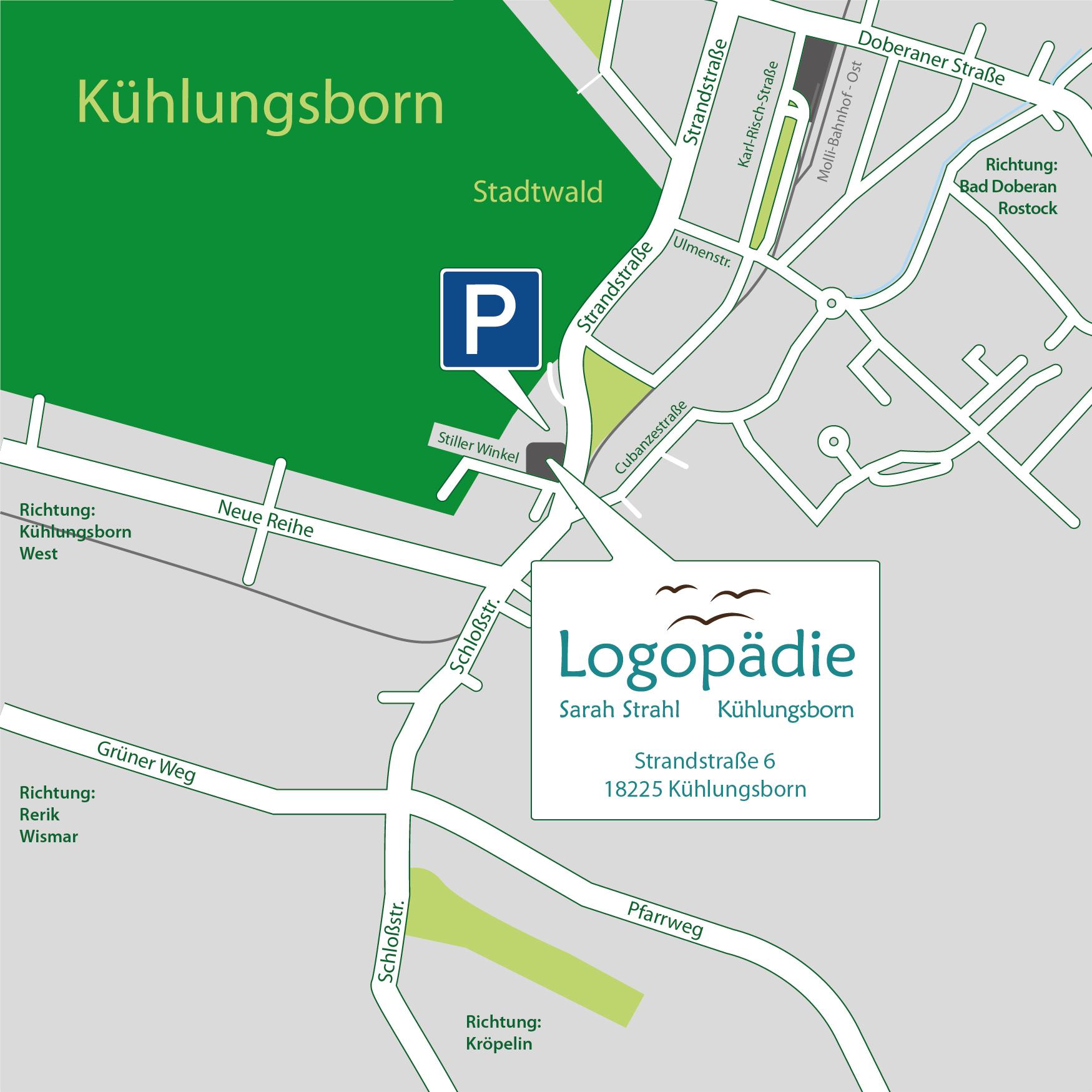 Anfahrt zur Logopädie Kühlungsborn